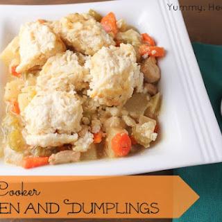 Easy Slow Cooker Chicken and Dumplings.