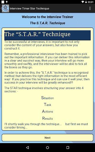 Interview STAR Timer Technique screenshot 8