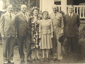 Photo: O. Max Gardner, Jr., Governor Gardner, Fay Webb Gardner, Margaret Love Gardner, Ralph Webb Gardner and James Webb Gardner Webbley 1942