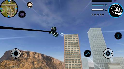 Neon Iron Stickman Rope Hero City Gangstar Mafia screenshot 3