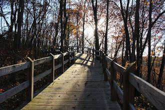 Photo: Walking trail along Siloam Mountain Park woods...
