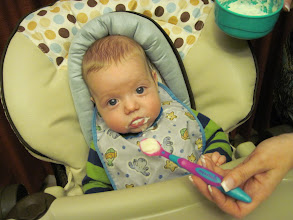 Photo: Liam's First Solid Food