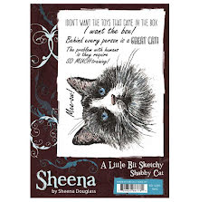 Sheena Douglass A Little Bit Sketchy A6 Stamp Set - Shabby Cat UTGÅENDE