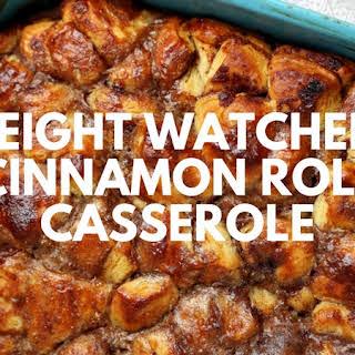 Weight Watchers Cinnamon Roll Casserole.