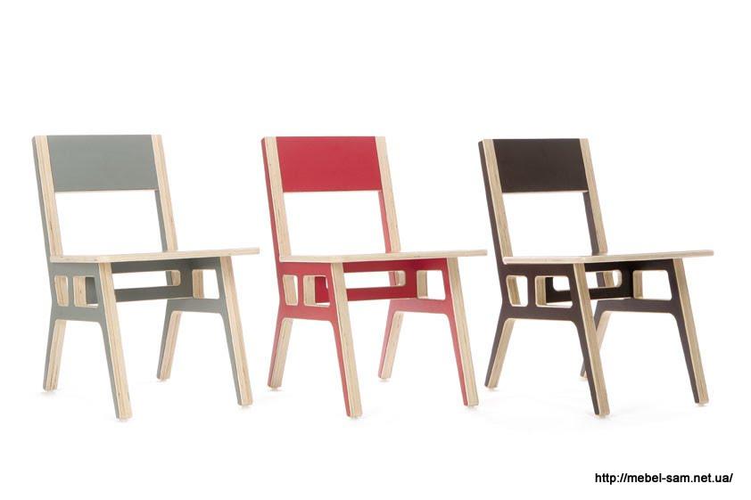 Цветовые варианты стула из фанеры