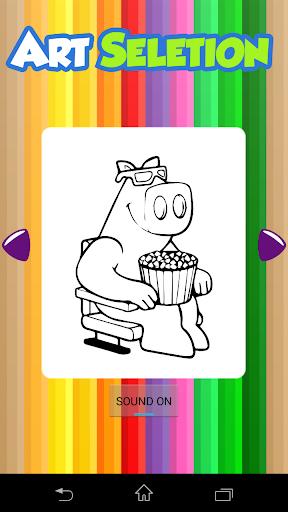 Pig Games Kids Coloring
