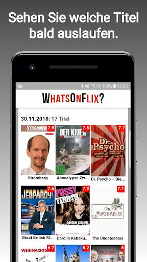 WhatsOnFlix? (Was gibt's Neues bei Netflix?) 0.9.77 screenshots 2