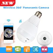 Panoramic 360° CCTV Bulb Camera