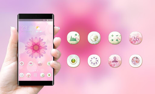 Flower rose Pink Theme for Huawei Honor note10 hack tool