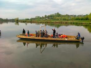 Photo: tym będą transportować działo z brzegu na brzeg