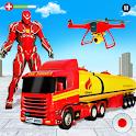 Flying Oil Tanker Robot Truck Transform Robot Game icon
