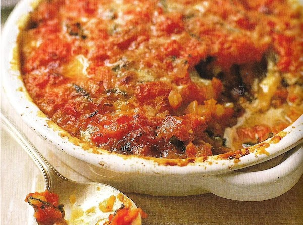 Baked Eggplant, Tomato, Mozzarella And Parmesan Recipe