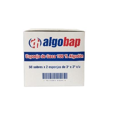 "Gasa Esteril Algobap 3""X3"" X2Und"