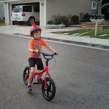 Photo: Clark on a glide bike!