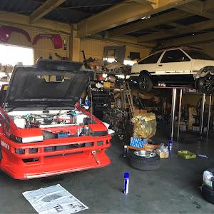 スプリンタートレノ AE86 60' GT APEXのショックアブソーバーのカスタム事例画像 しゅーてぃーさんの2019年01月13日17:43の投稿