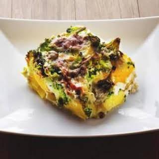 Broccoli Cheese and Potato Casserole.