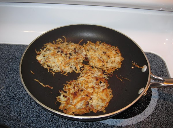 Turn the griddle to 300F or heat a heavy frying pan.  Using melted...