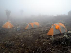 Photo: Barranco Camp in the fog