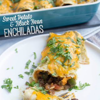 Sweet Potato Black Bean Veggie Enchiladas