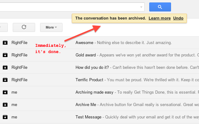How To Get Archived Gmail >> Actions For Gmail Beta
