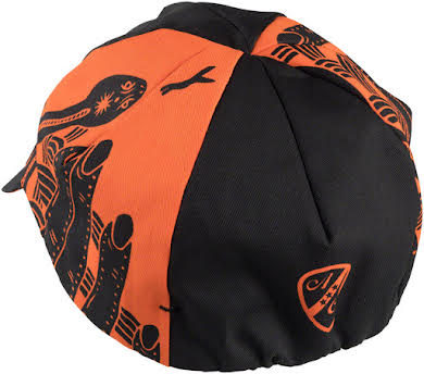 All-City DeerJerk Collaboration Cycling Cap: Orange/Black One Size alternate image 0