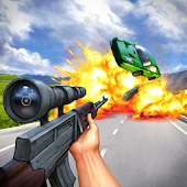 Traffic Ops 3D Shooter - Sniper car destruction