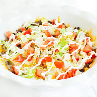 Taco Dip With Ground Beef Sour Cream And Cheese Recipes.