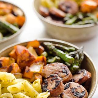 Roasted Veggie & Chicken Sausage Penne Bowls (Gluten Free)