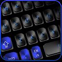 Black Blue Keyboard 10001002