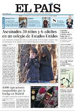 Photo: En la portada de EL PAÍS del sábado 15 de diciembre: La matanza de Newtown; Cataluña y Madrid se rebelan contra Rajoy por el euro por receta; 4.000 operaciones suspendidas por la huelga en Madrid http://srv00.epimg.net/pdf/elpais/1aPagina/2012/12/ep-20121215.pdf