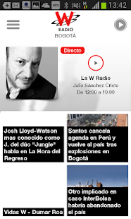 WRadio Colombia - náhled