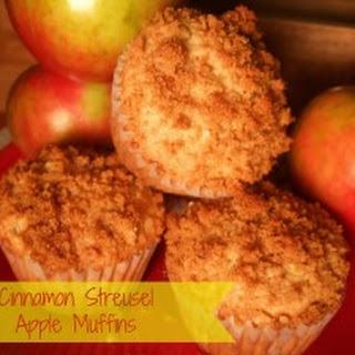 Cinnamon Streusel Apple Muffins