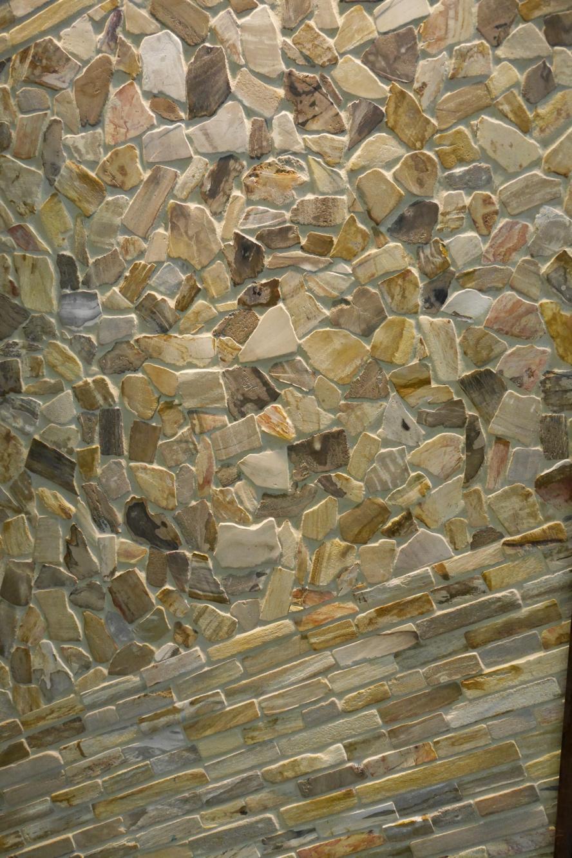Textured stone-look tile