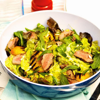 Lamb, Peach and Pine Nut Salad