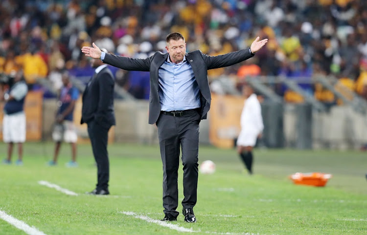 Eric Tinkler, coach of Supersport United during 2017 MTN8 match between Kaizer Chiefs and Supersport United at Moses Mabhida Stadium, Durban South Africa on 12 August 2017