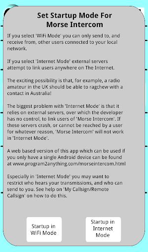 Morse Code Intercom