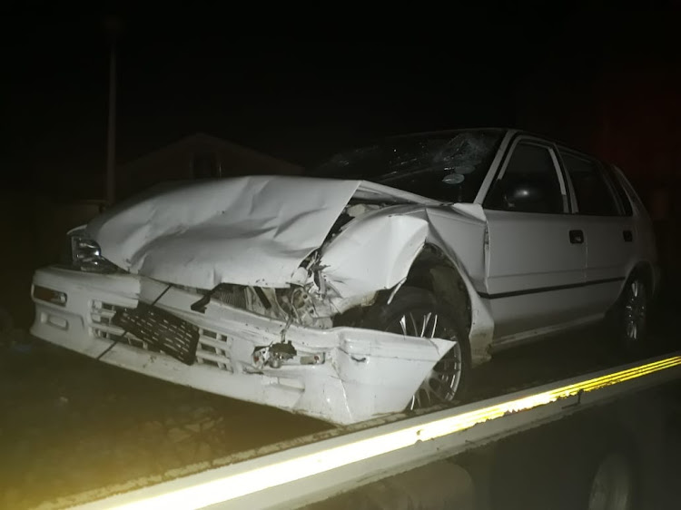 Hijackers crashed during a car chase and shootout with police over the weekend