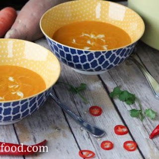 Curry Coconut Sweet Potato and Carrot Soup Recipe