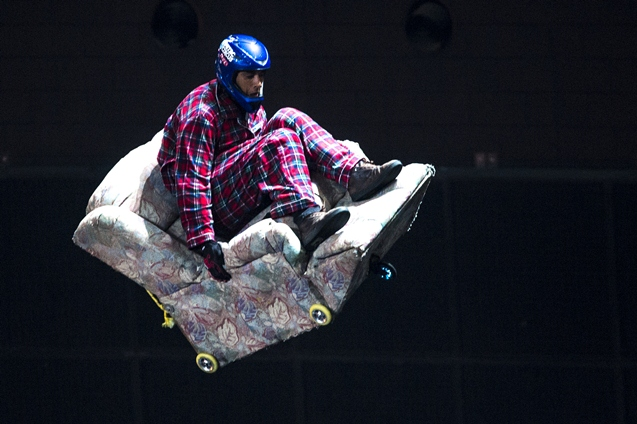 Nitro Circus live in Glasgow with stunts from performers.