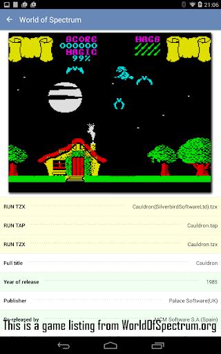 Speccy - Free Sinclair ZX Spectrum Emulator apktram screenshots 6