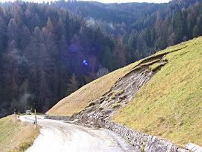 Photo: Stierva - Erdrutsch im November 2002