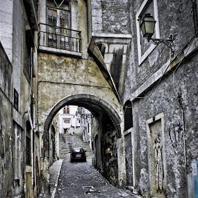 Dark streets by Carlos Cardoso - City,  Street & Park  Neighborhoods ( dark, streets, lisbon, portugal, alfama )