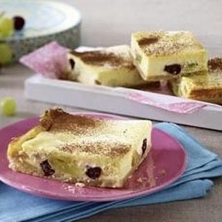 Trauben-Kuchen vom Blech mit Frischkäse-Orangen-Guss