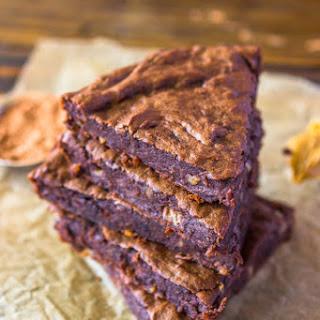4 Ingredient Fudge Protein Brownies (Vegan, Gluten-free, Paleo).