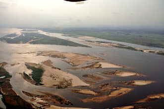 Photo: sand islands in the Congo River