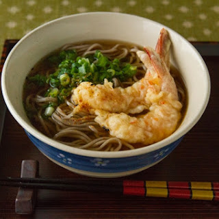 Soba Noodles with Shrimp Tempura