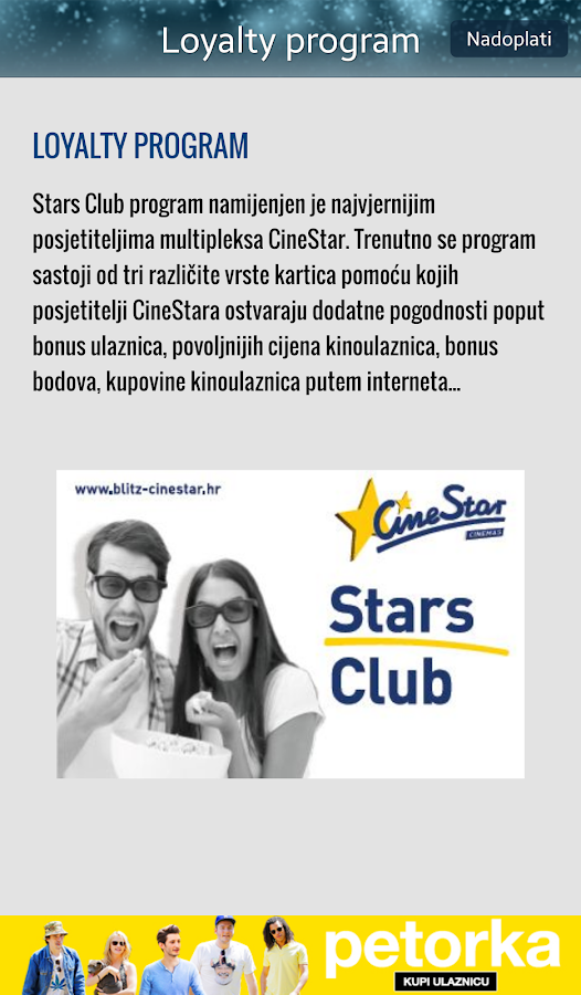 iCineStar- screenshot