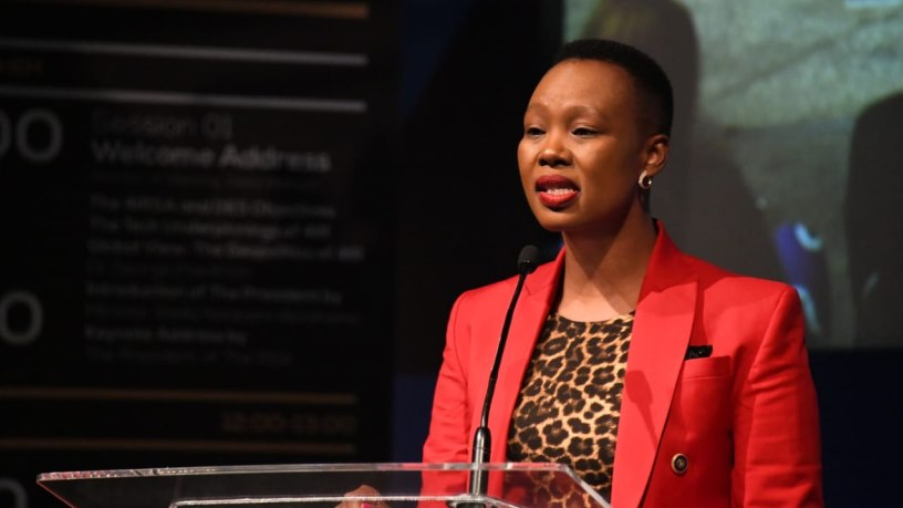 Communications and digital technologies minister Stella Ndabeni-Abrahams. (Photo source: DCDT)