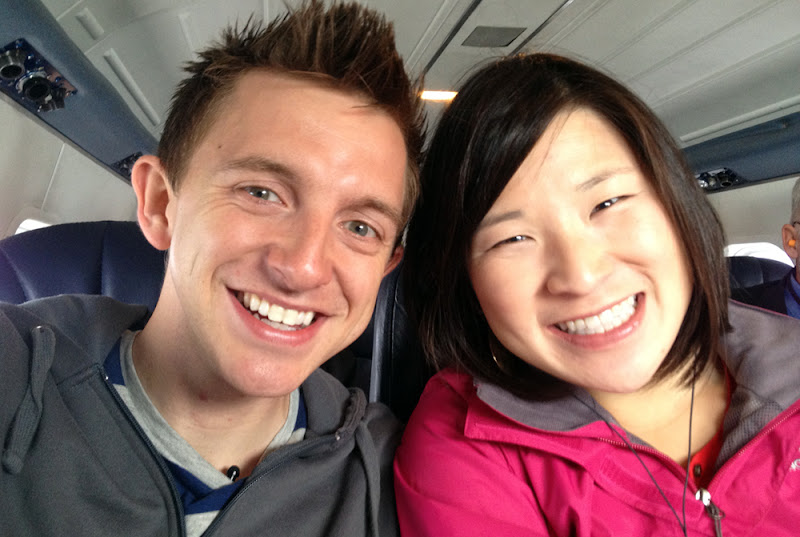 Photo: On their first plane ride together