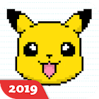 Happy Cartoon Pixel Book - Pixel Art Coloring icon